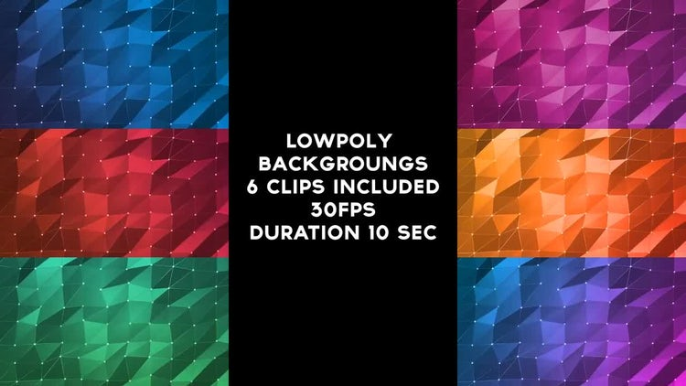Lowpoly Backgrounds Pack: Stock Motion Graphics
