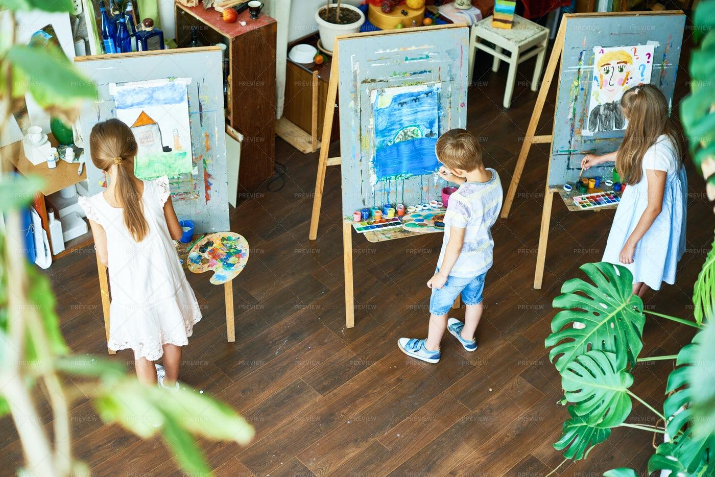 Busy Art Studio: Stock Photos