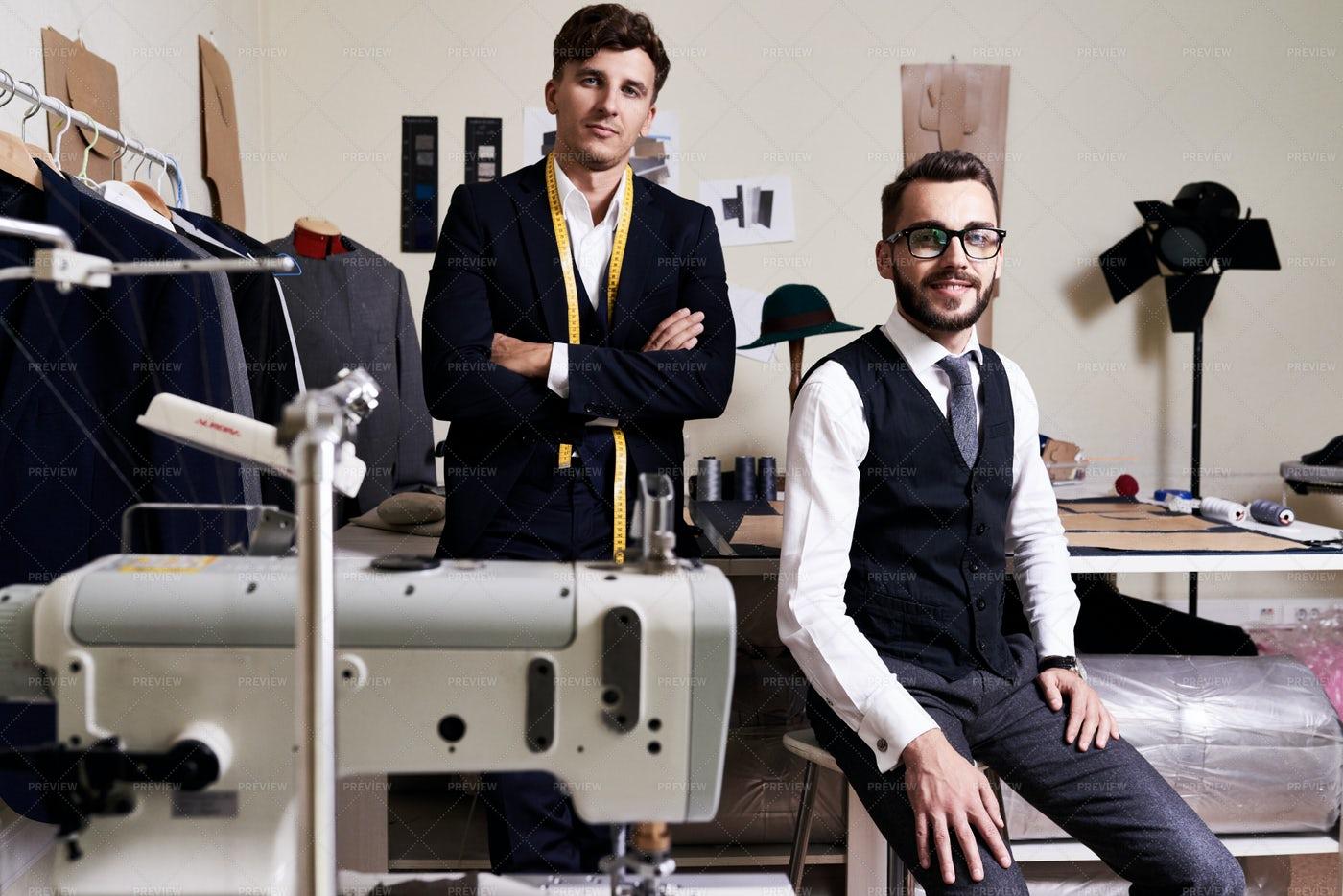 Modern Fashion Designer Team: Stock Photos