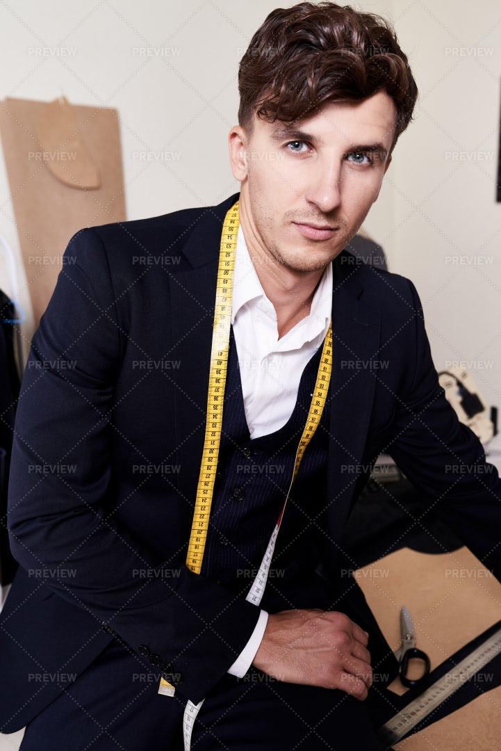 Handsome Tailor Posing In Fashion...: Stock Photos
