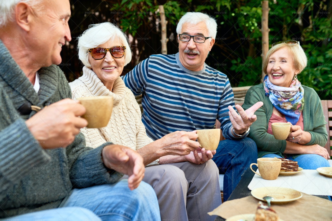 Pleasant Moments Of Friendship: Stock Photos