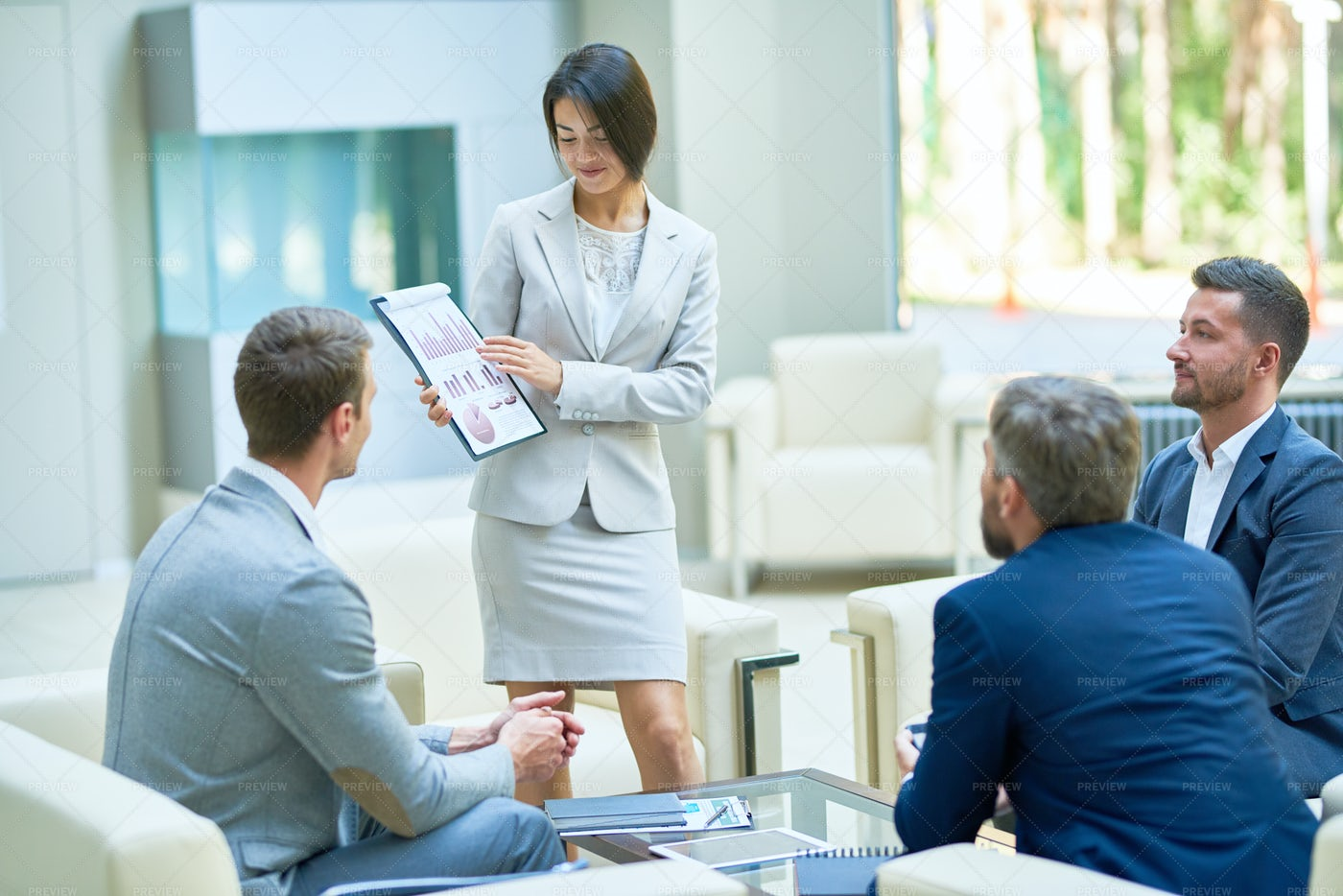 Business Woman Presenting Project: Stock Photos