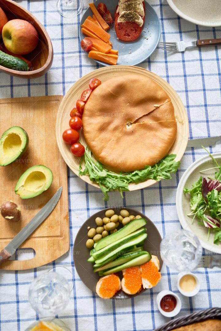 Rustic Homemade Meal: Stock Photos