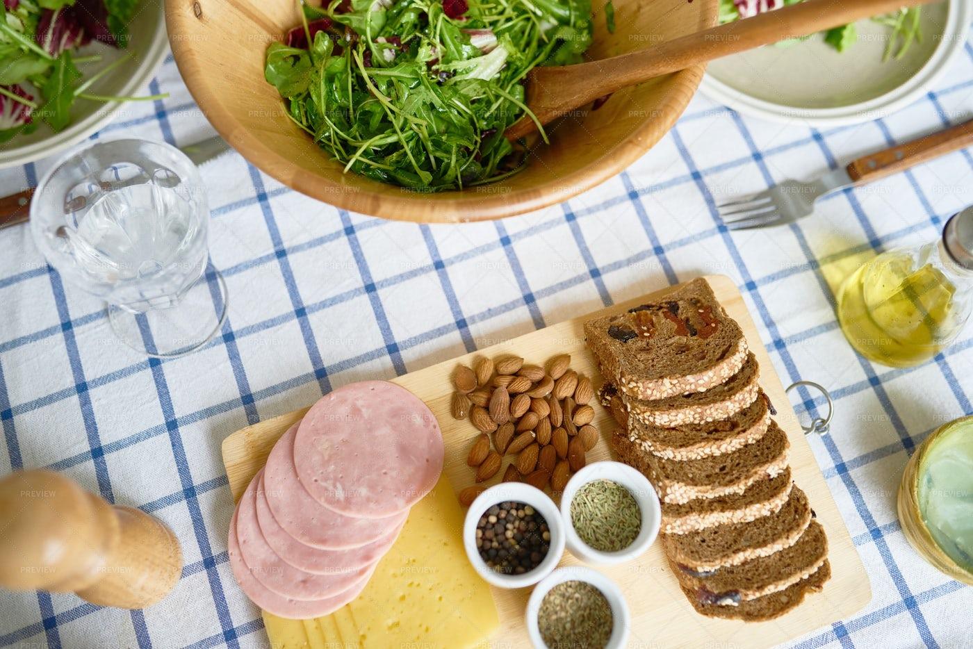 Rustic Homemade Breakfast: Stock Photos