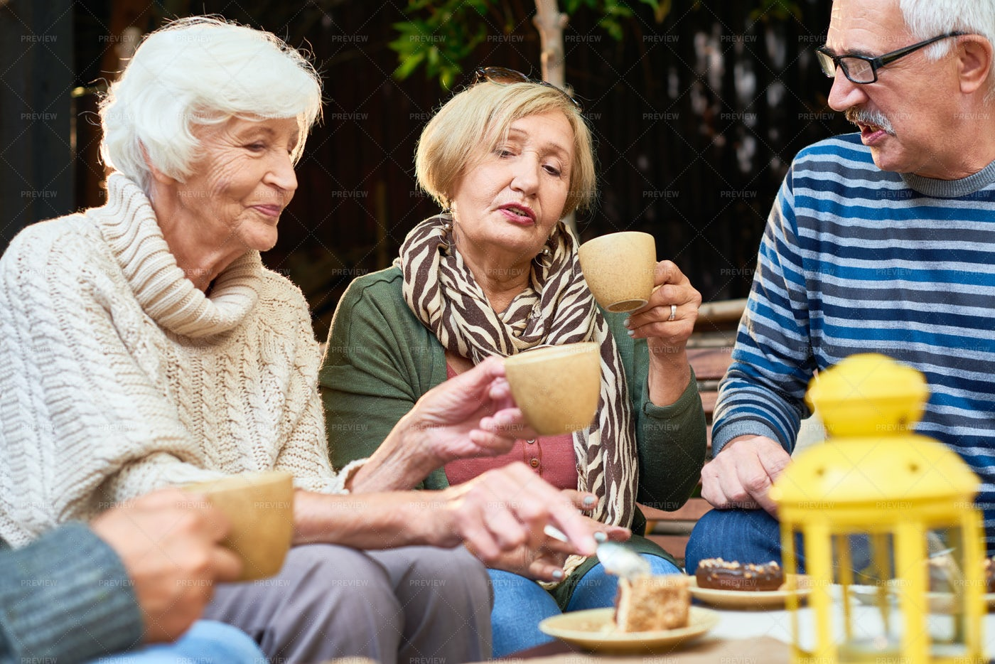 Tea Party With Best Friends: Stock Photos