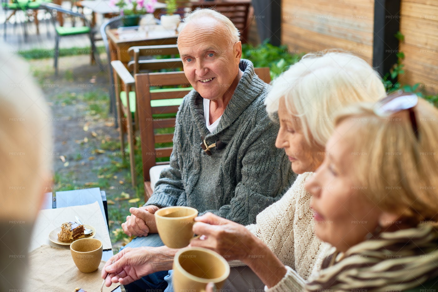 Having Good Time With Senior...: Stock Photos