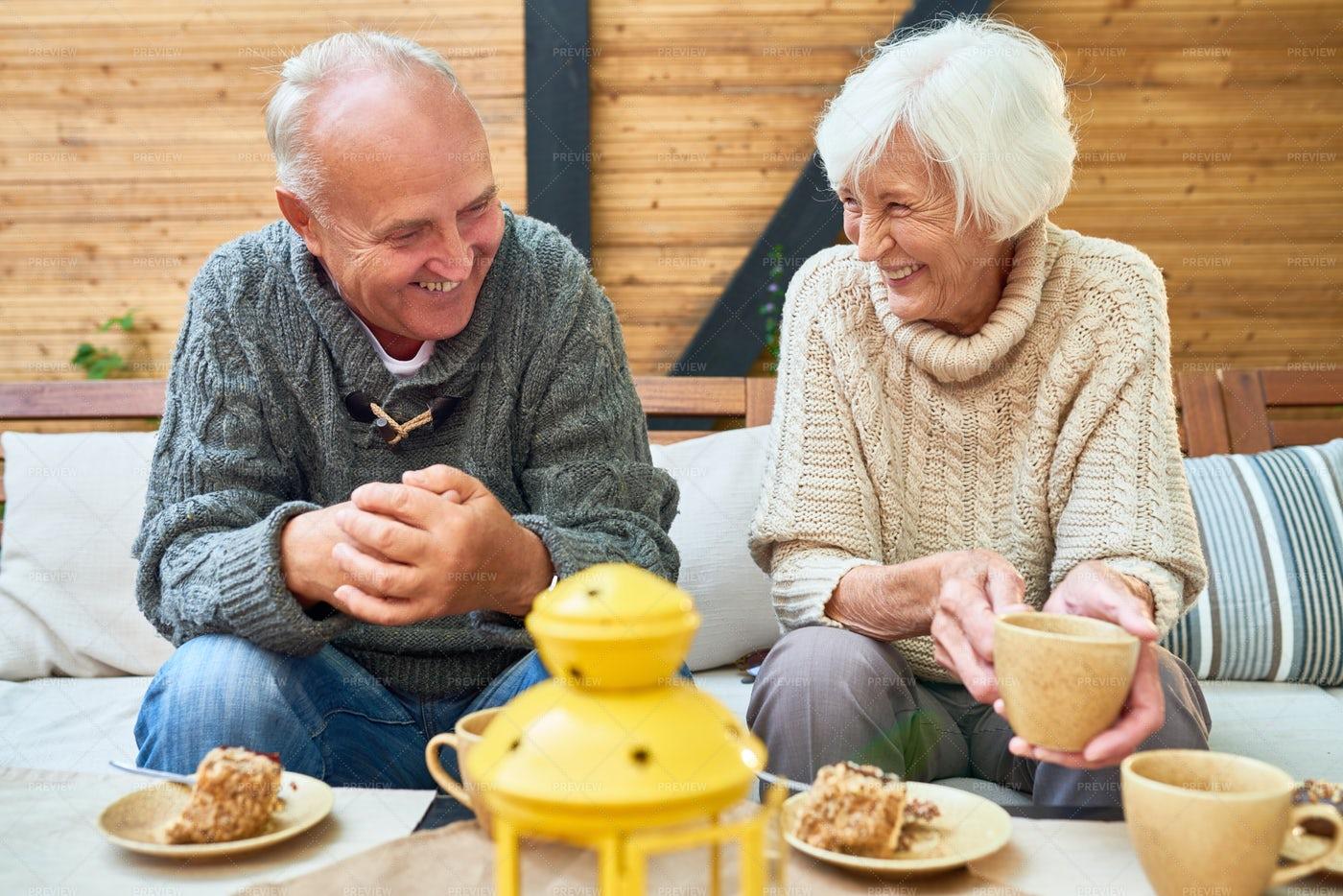 Happy Senior Couple In Retirement: Stock Photos