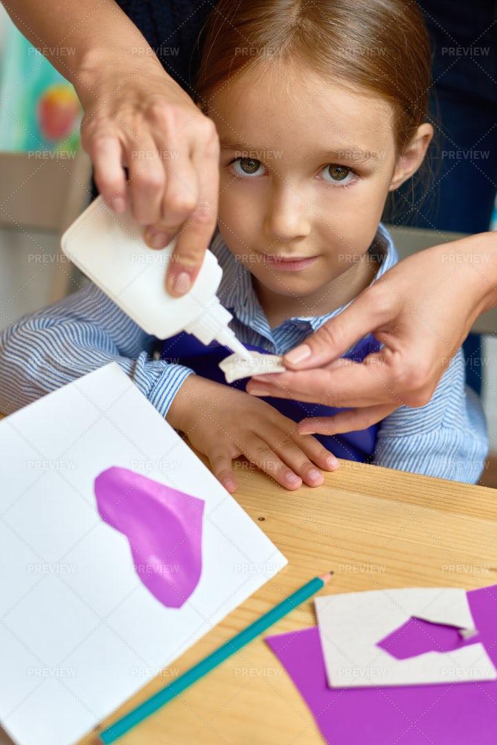 Child In Preschool Lesson: Stock Photos
