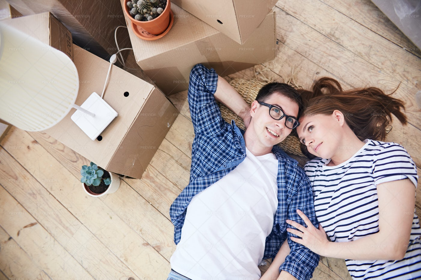 Long-Awaited Cohabitation Of Young...: Stock Photos
