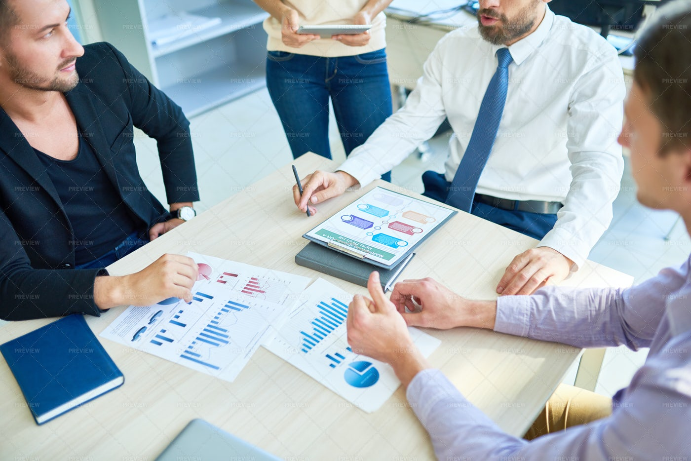 Business People Planning Strategy...: Stock Photos