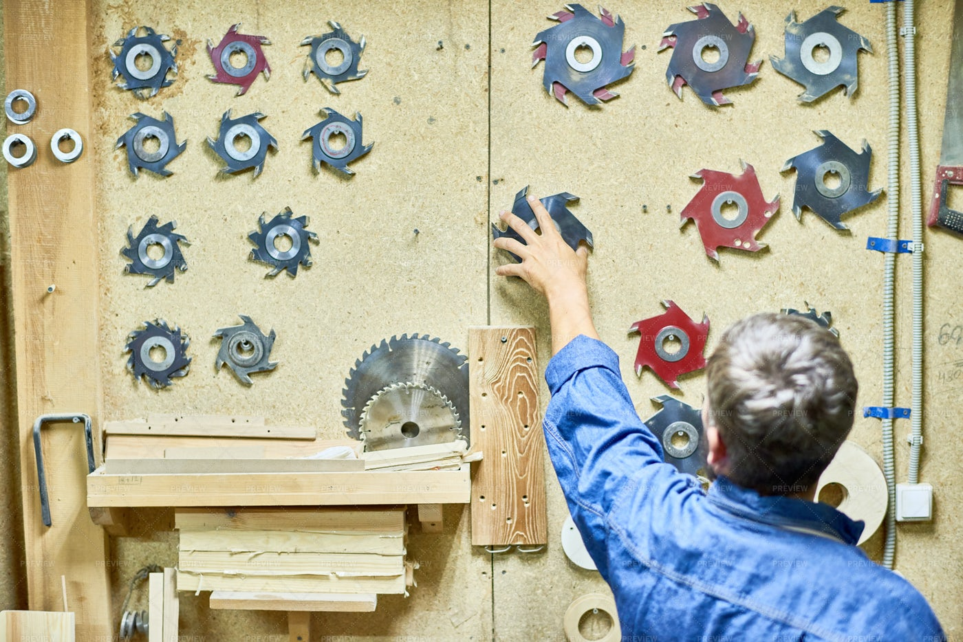 Cutting Tools In Carpentry: Stock Photos