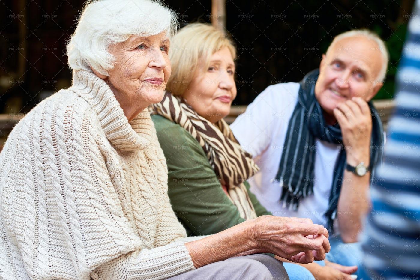 Enjoying Fresh Air With Friends: Stock Photos