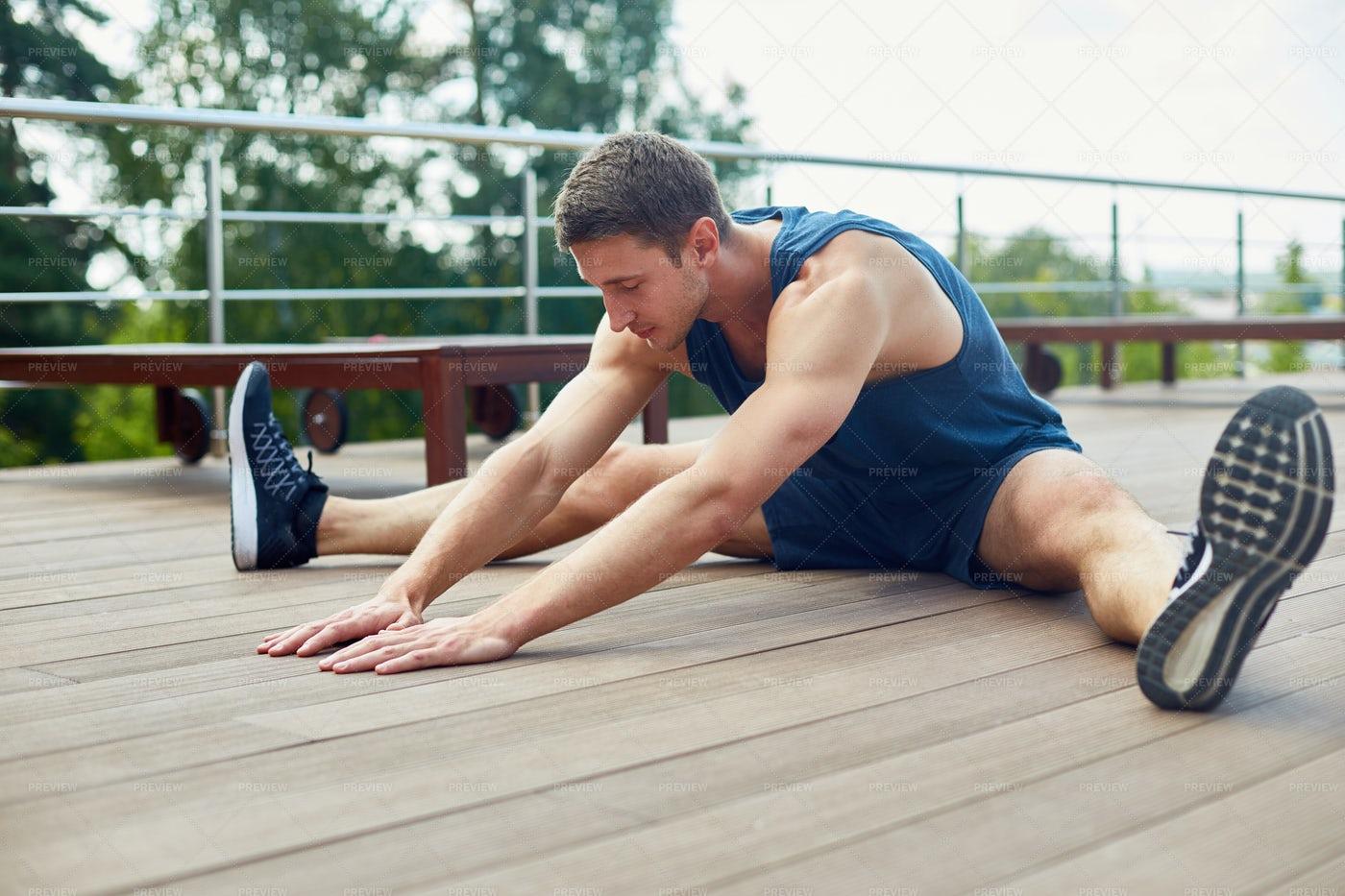 Enjoying Outdoor Workout: Stock Photos