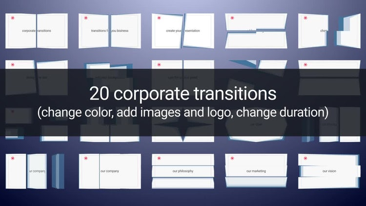Corporate Transitions: After Effects Templates