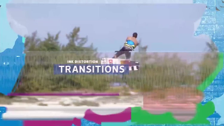 Ink Distortion Transitions: After Effects Templates