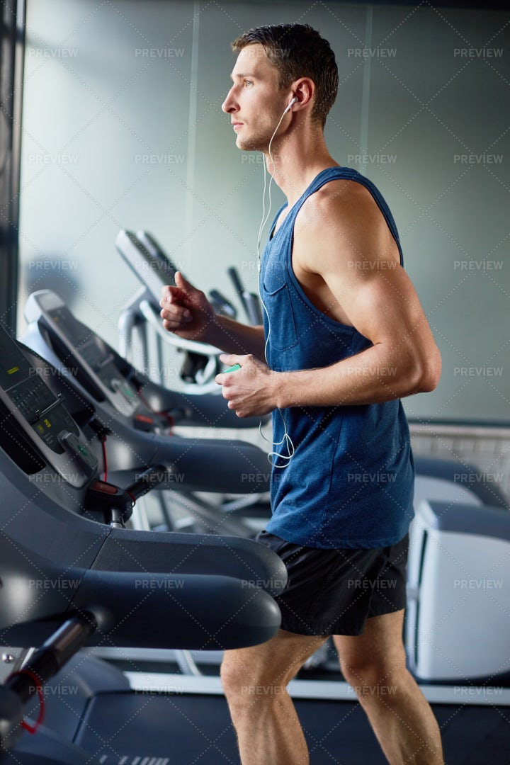 Doing Cardio Exercise: Stock Photos