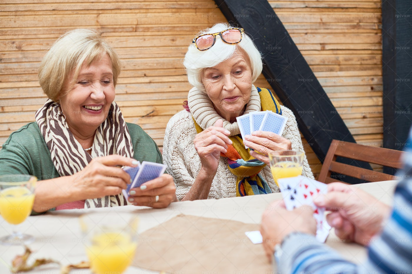 Wrapped Up In Playing Poker: Stock Photos