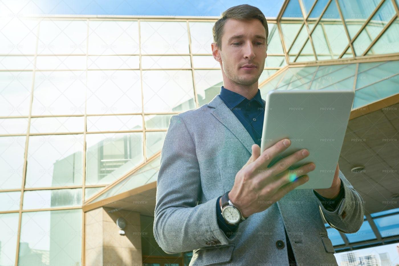 Modern Businessman Using Digital...: Stock Photos