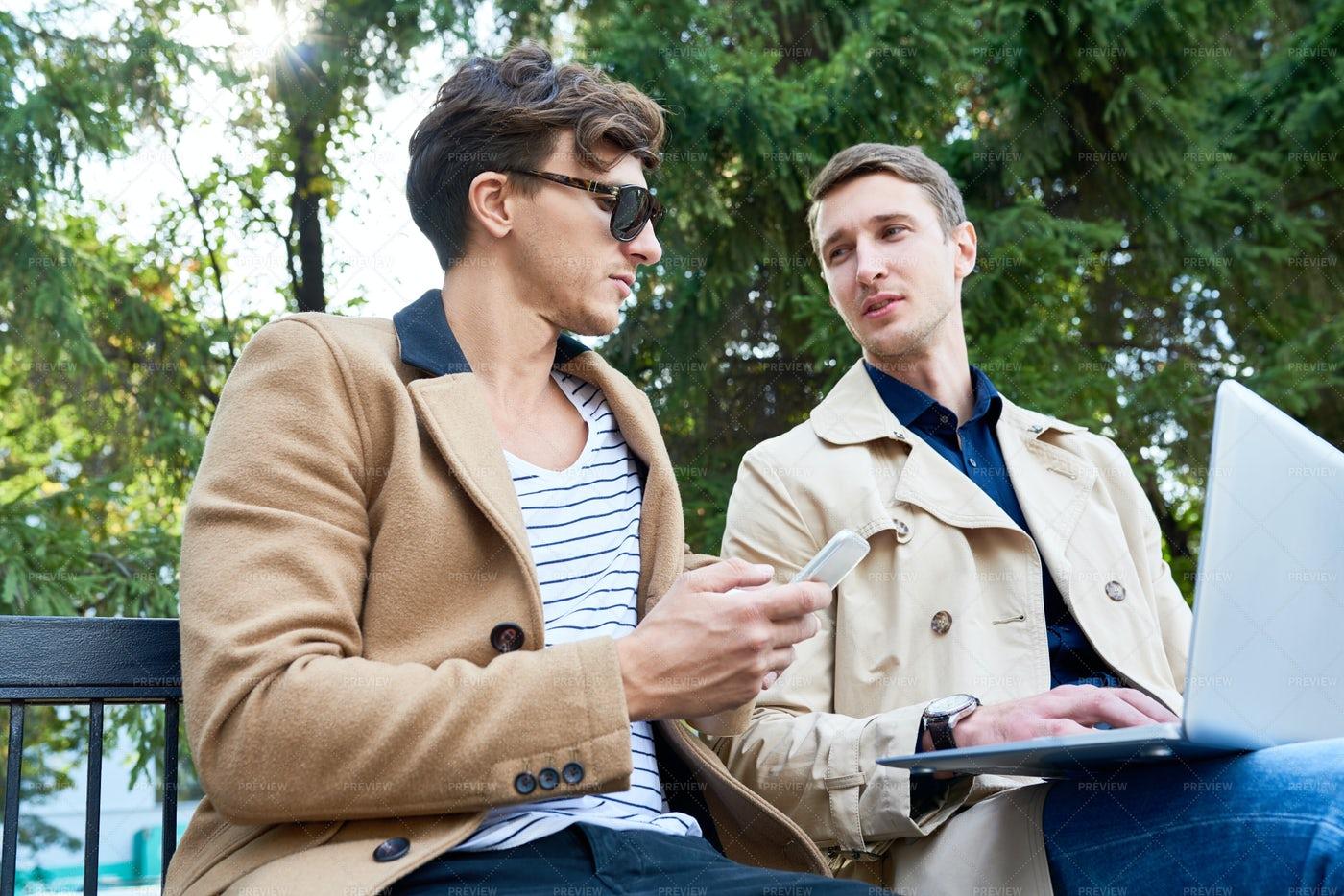 Young Entrepreneurs Discussing Work...: Stock Photos