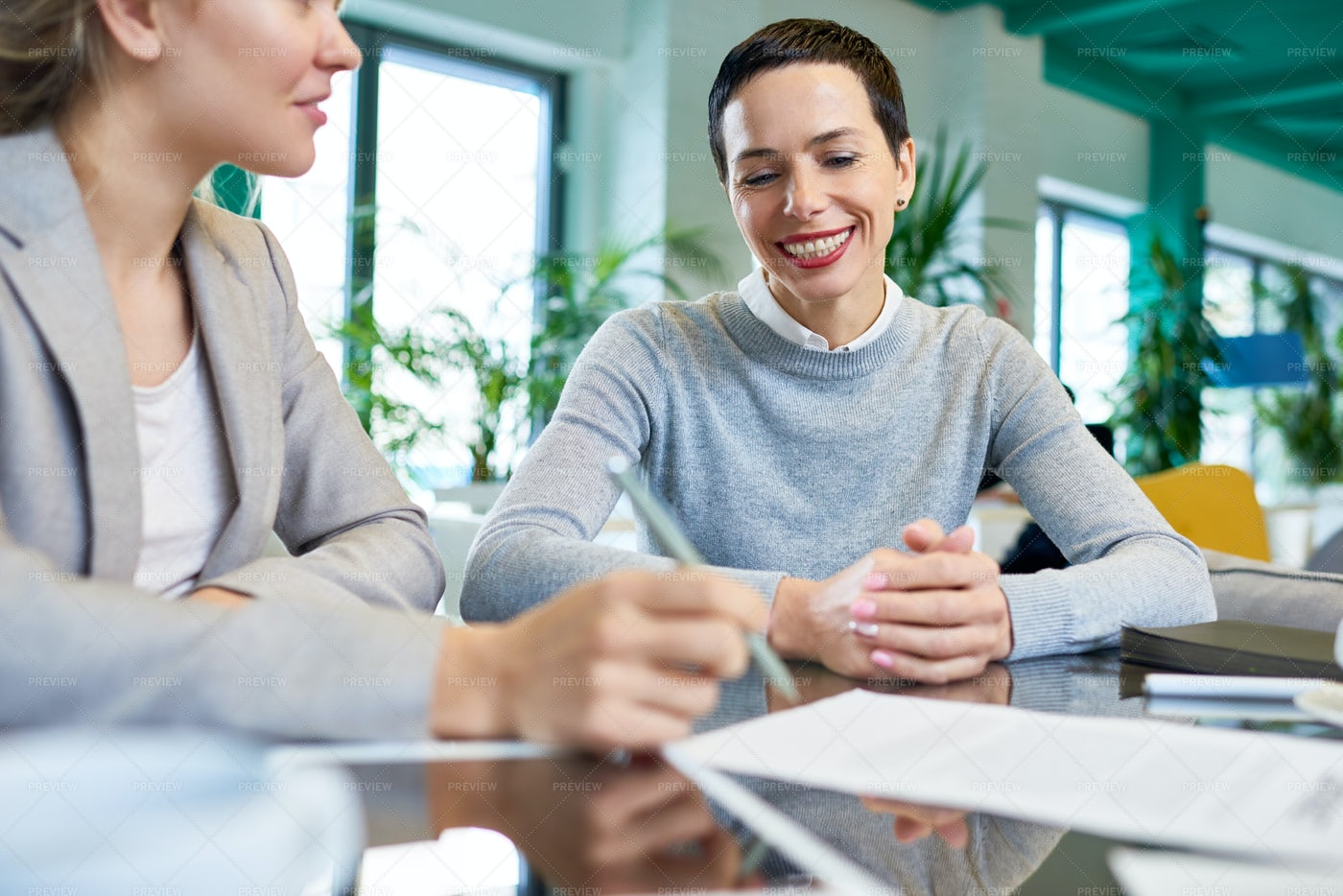 Smiling Successful Business Woman...: Stock Photos