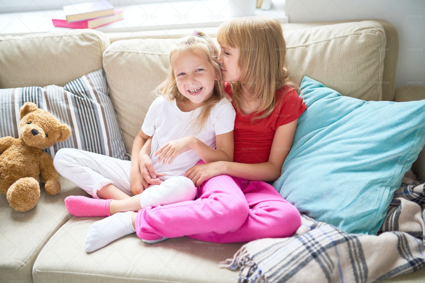 Loving Little Sisters: Stock Photos