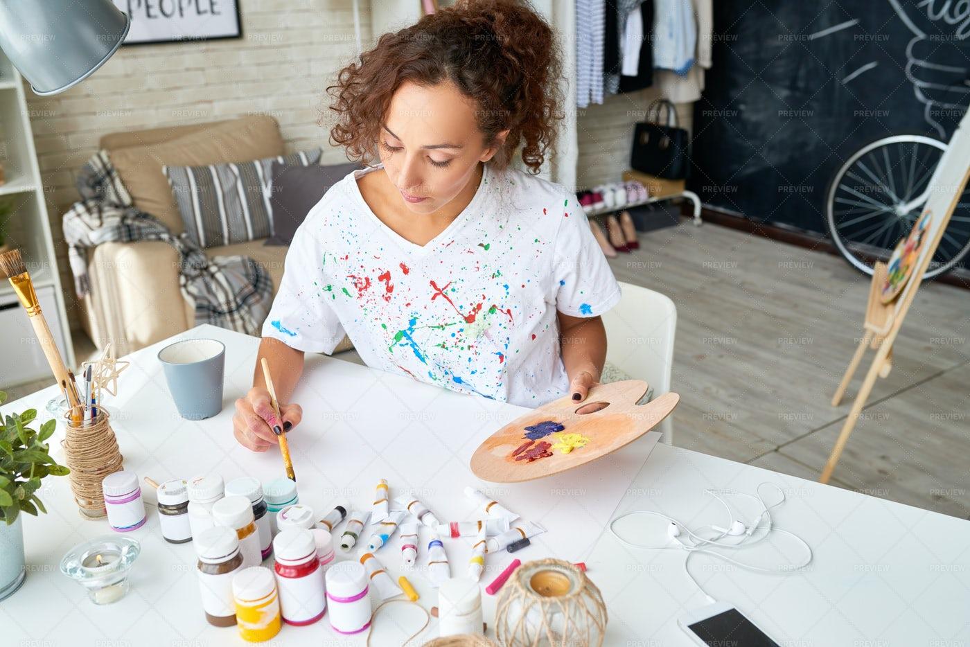 Young Woman Enjoying Hobby: Stock Photos