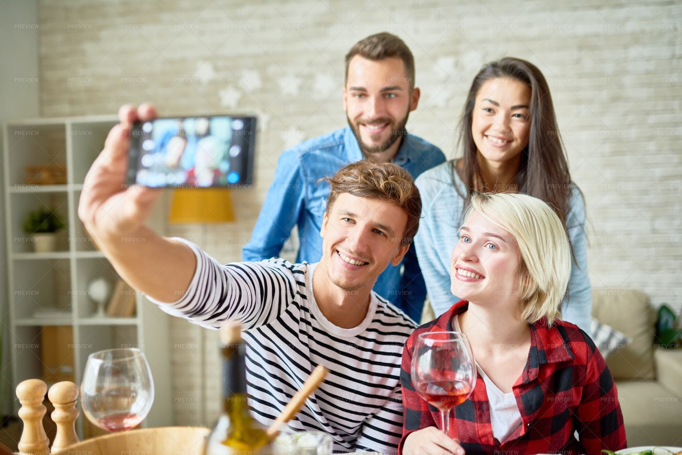Happy Young People Posing For...: Stock Photos