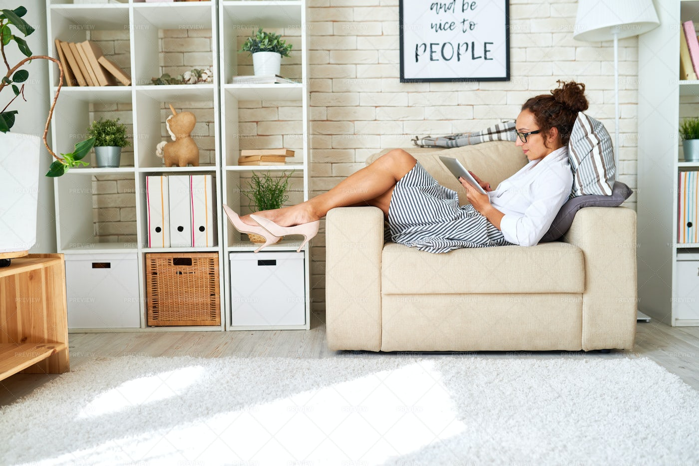 Leisure Time At Home: Stock Photos