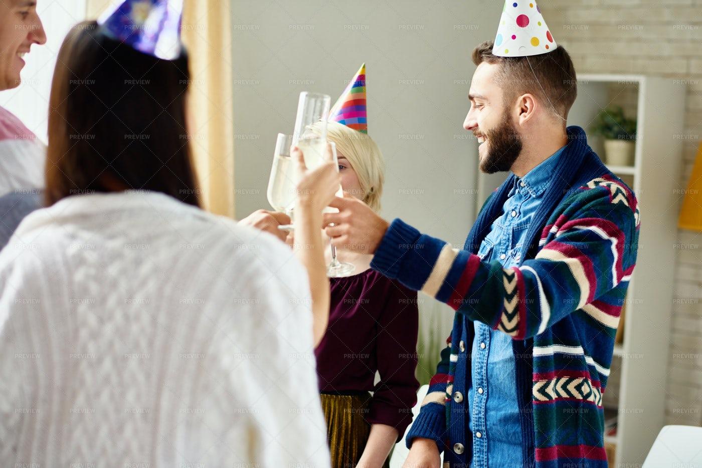 Friends Celebrating Birthday: Stock Photos