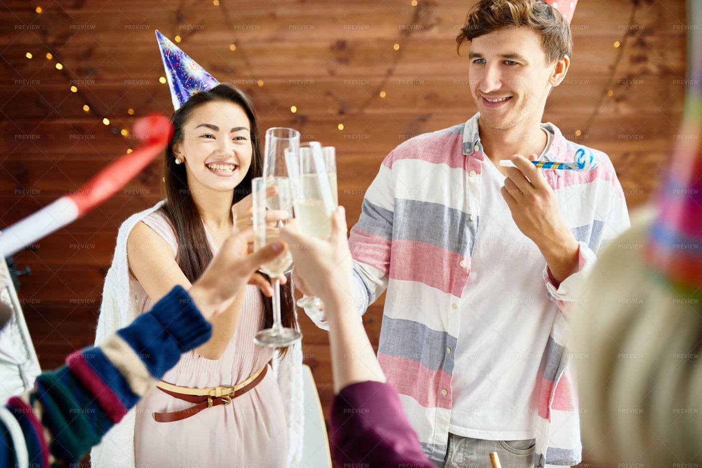 Happy Couple Celebrating Birthday...: Stock Photos