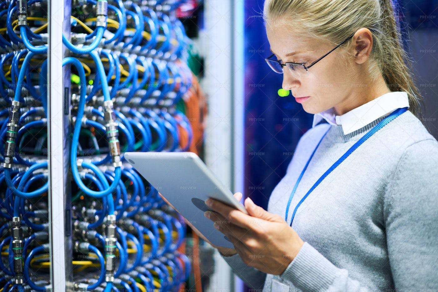 Female Network Administrator: Stock Photos