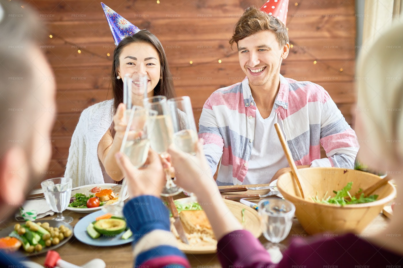 Happy Couple Celebrating Birthday...: Stock Photos