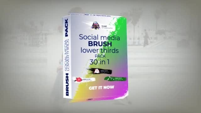 Social Media Brush Lower Thirds Pack: After Effects Templates