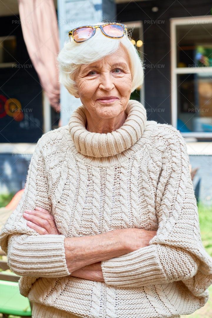 Portrait Of Pretty Senior Woman: Stock Photos