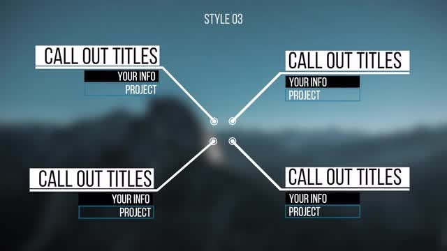 Universal Call-Out Titles: Premiere Pro Templates