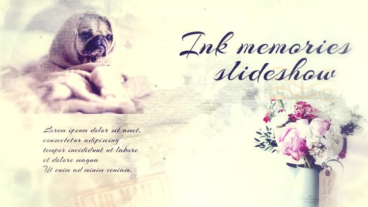 Ink Memories Slideshow: After Effects Templates