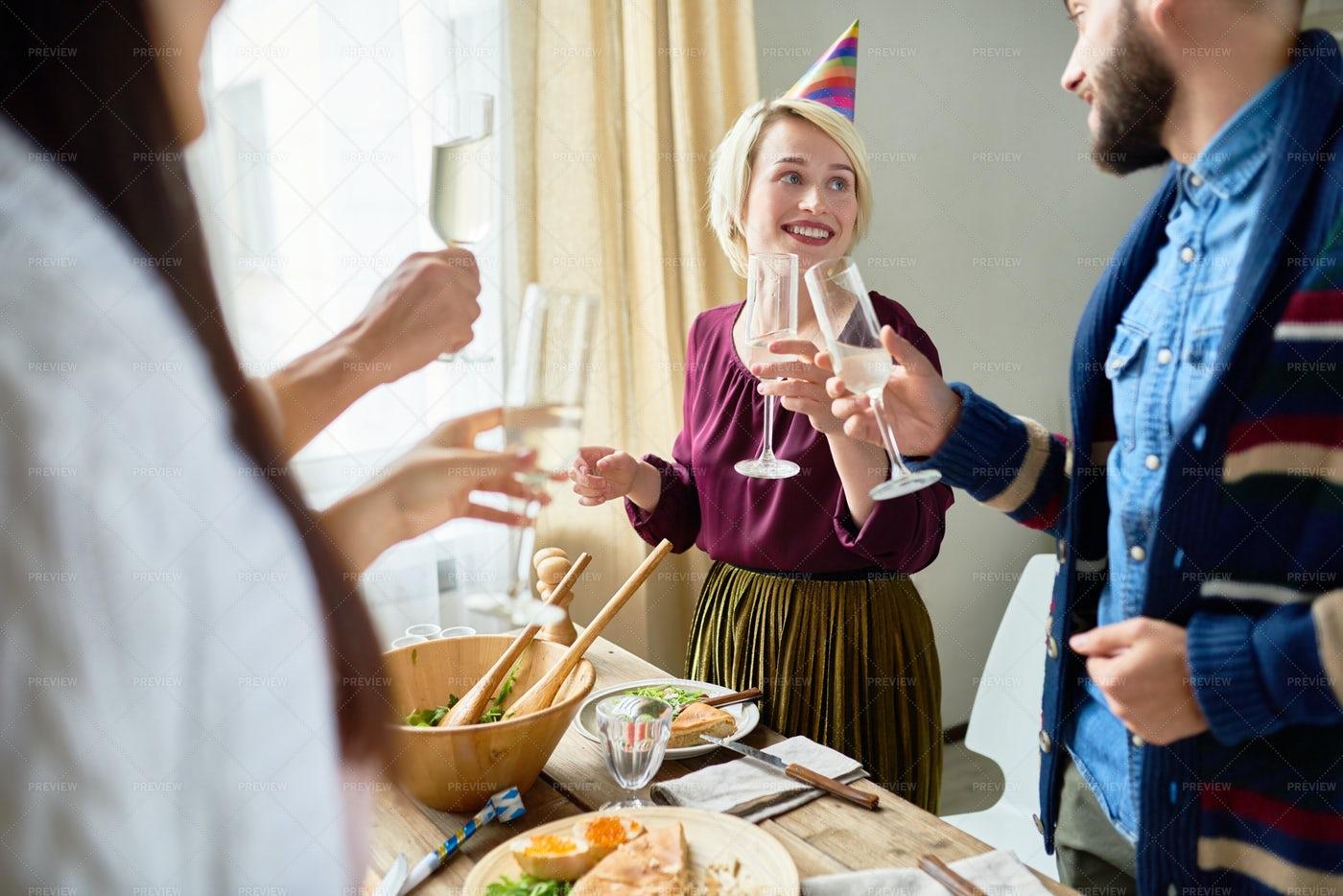 Friends Celebrating Birthday...: Stock Photos