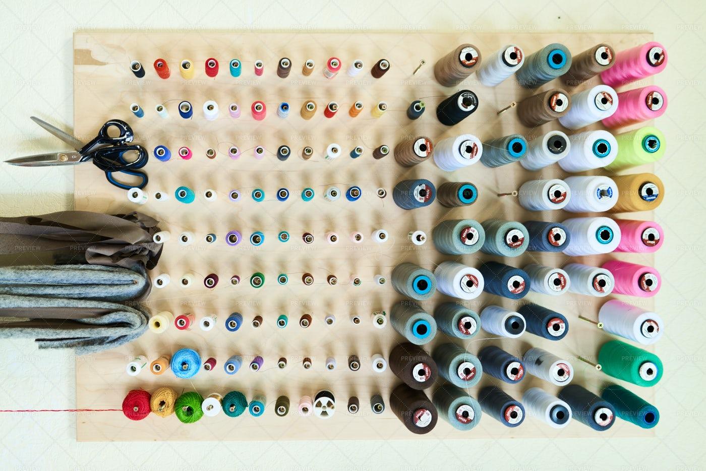 Wooden Thread Spool Holder: Stock Photos