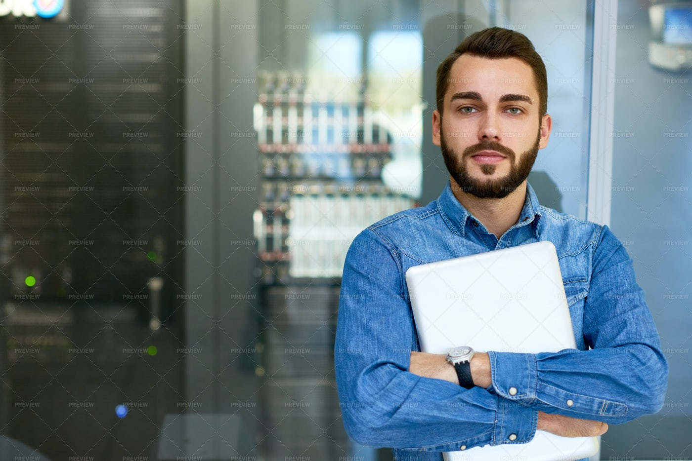 Portrait Of Systems Administrator: Stock Photos