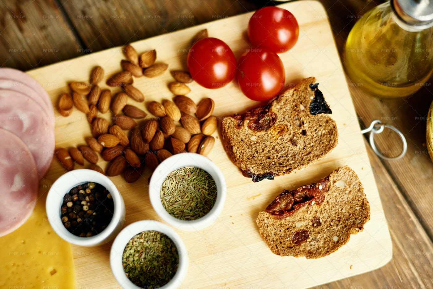 Ingredients For Healthy Sandwich: Stock Photos
