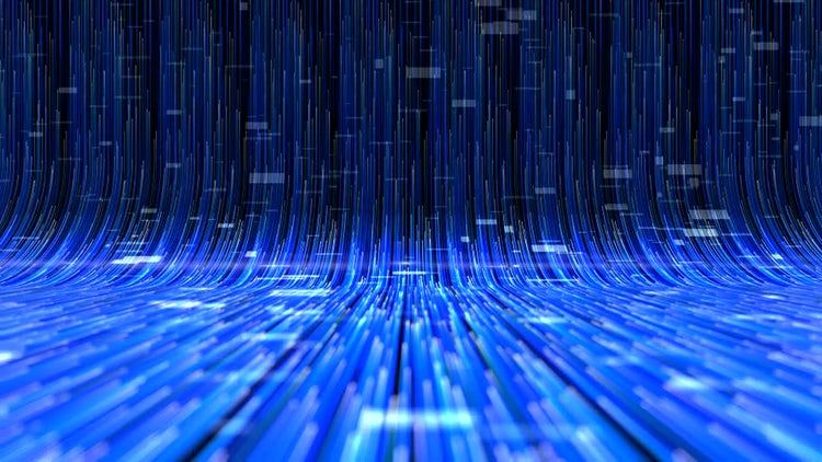 Elegant Digital Lines Background: Stock Motion Graphics