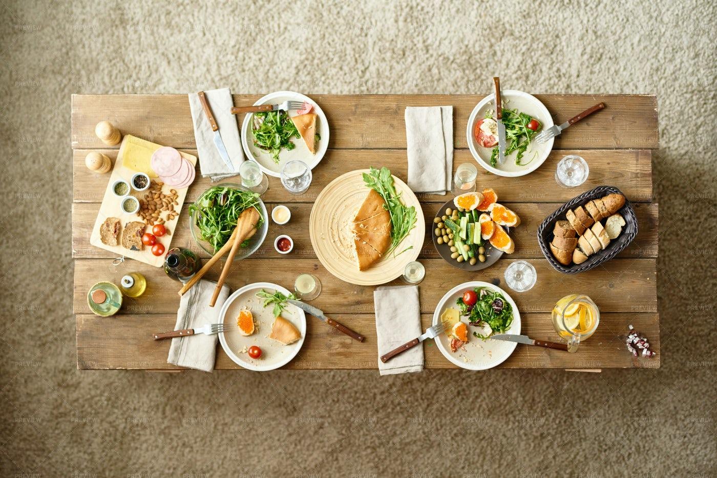 Festive Dinner Table: Stock Photos