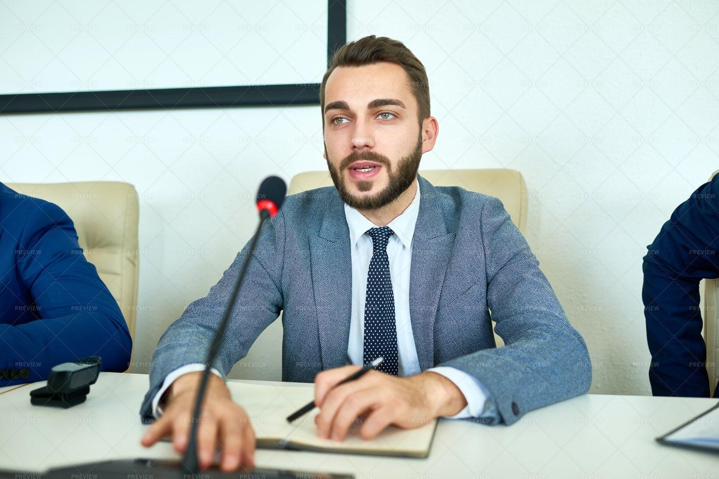 Young Politician Giving Speech: Stock Photos