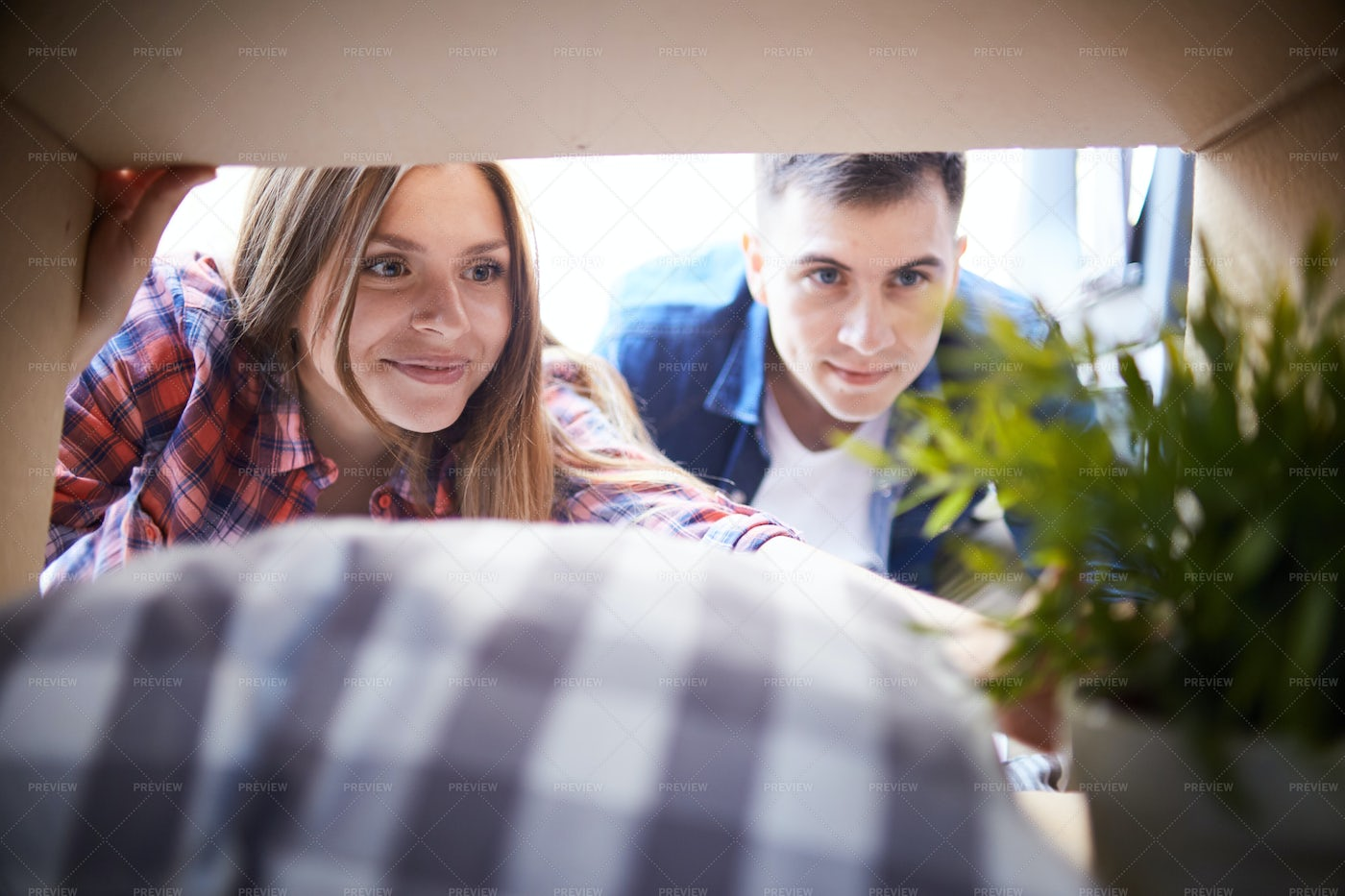 Happy Couple Ready To Move Out: Stock Photos
