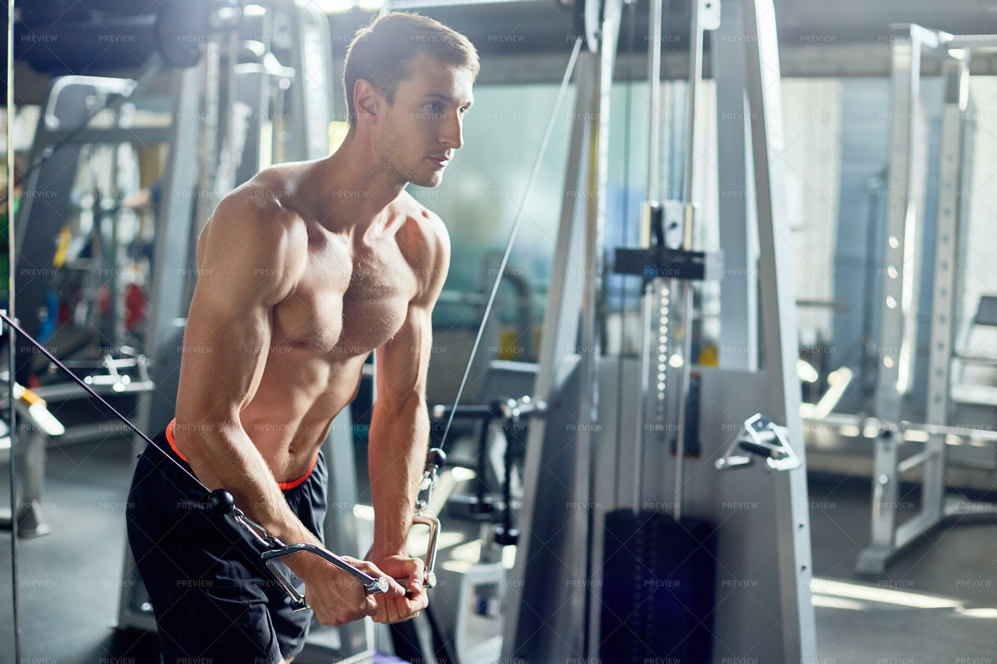 Intensive Training Of Handsome...: Stock Photos
