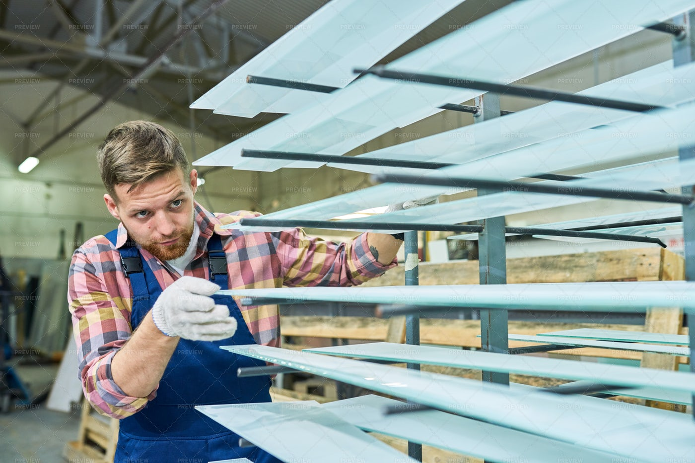 Young Man Working At Factory: Stock Photos