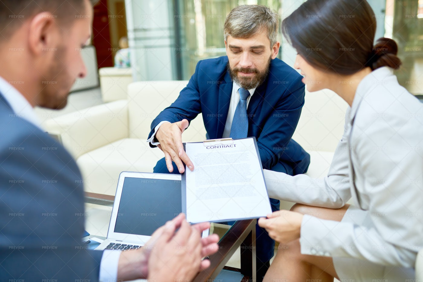 Negotiations Of Business Partners: Stock Photos