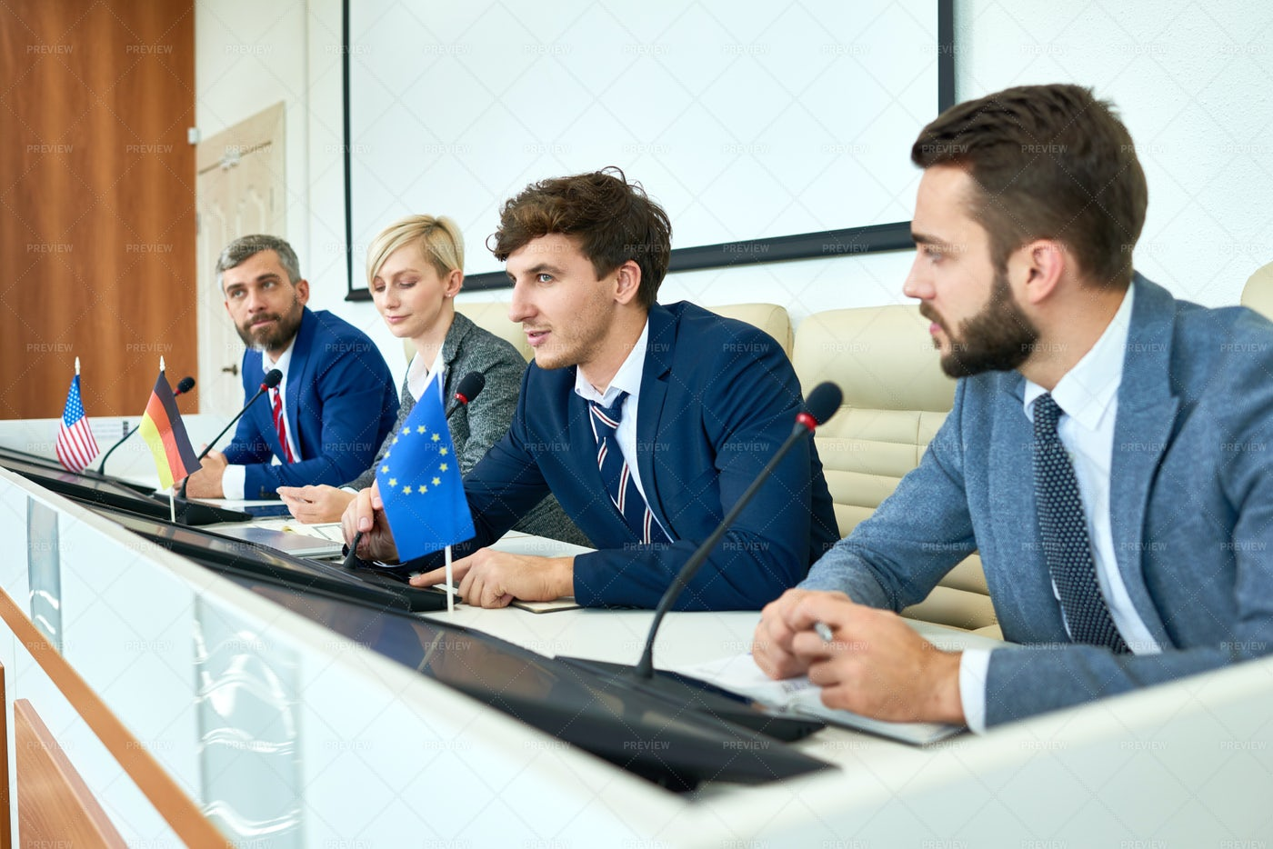 Young Politician Speaking In...: Stock Photos