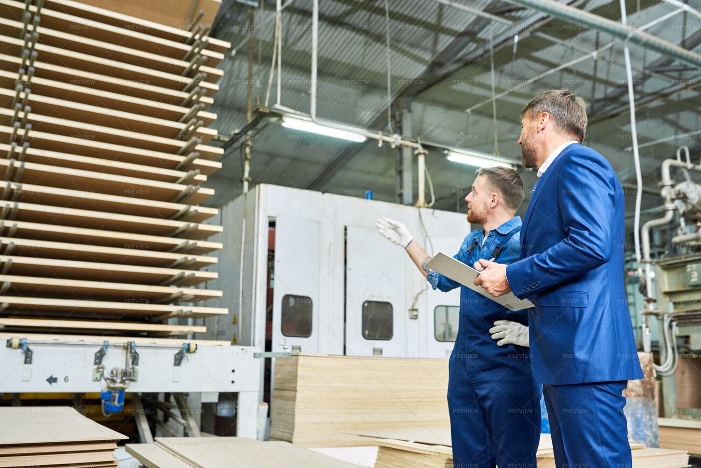 Inspection At Factory: Stock Photos