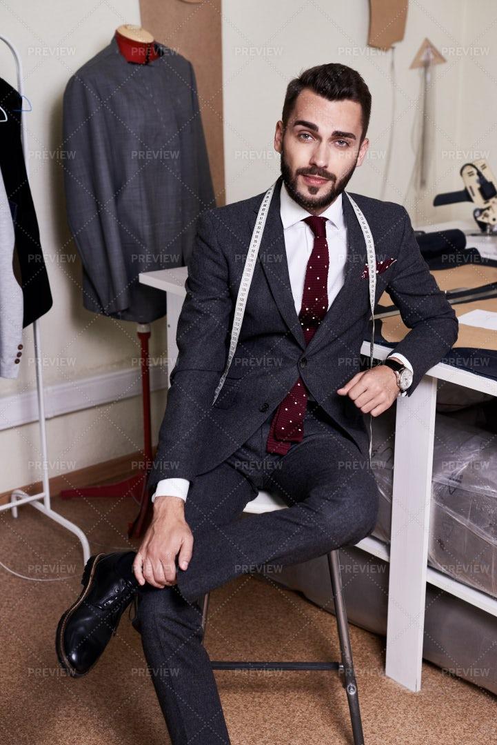 Portrait Of Handsome Fashion...: Stock Photos